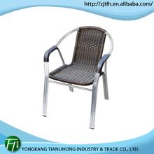 hot salling outdoor cast aluminum stackable chair/aluminum welding chair