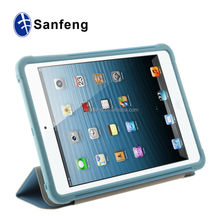 Factory directly triple flip back cover for ipad mini 3 laptop shockproof case 20 colors available