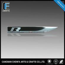 Custom 3D plastic chrome auto emblem car logo sticker badge