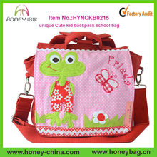 New Arrival Canvas Popular High Quality Embroidery Kid School Bag