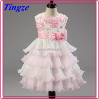 Fashion charming chiffon lace layered princess party dresses for girls of 7 years old TR-WS61