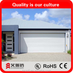 Finish steel sectional garage doors made in China and CE approved