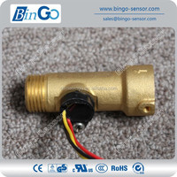 G1/2 rate 1-25L/min Brass flow sensor for liquids , water flow sensor for pump