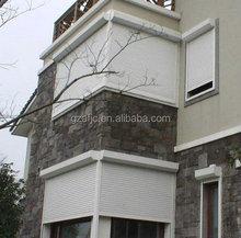 Guangzhou aluminum roller slats windows, window grills design, simple iron window grills