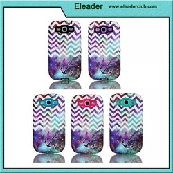 Flower pattern combo pc/tpu case for galaxy s3, for samsung galaxy s3 hard case