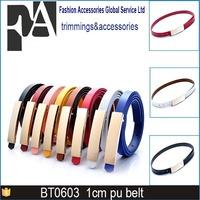 1cm width New design crystal diamond gloden buckle belt for women