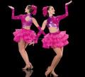 Nuevo 2015!! Mbq317 caliente de color rosa con lentejuelas chicas adolescentes la competencia sexy vestido de jazz