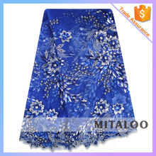 Mitaloo High Quality French Lace Fabric Flower Applique With Stone MCP0021