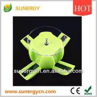 solar round apple shaped rotating display platform for digitals