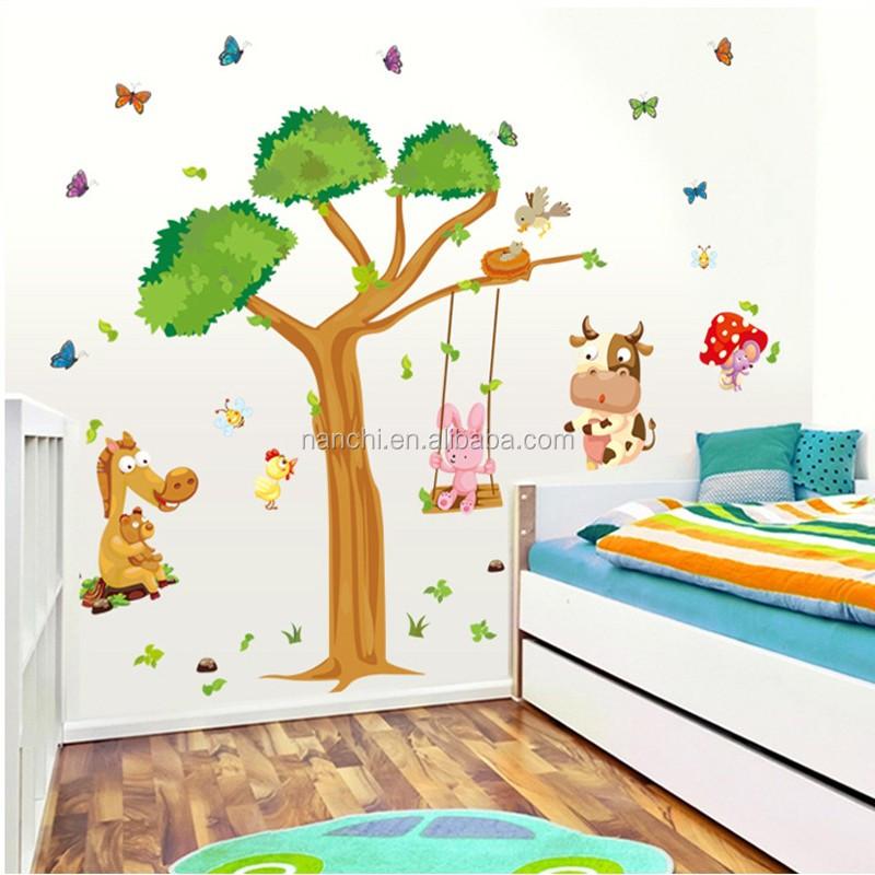 Die Tree House Cartoon Aufkleber Großhandel Tier Kinderzimmer Dekoration  Aufkleber Kindergarten Klassenzimmer
