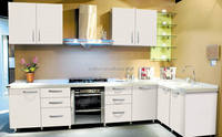 acrylic white kitchen cabinet in plywood