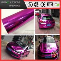 Good air bubble free wrap 1.52*20M pink chrome car wrap vinyl with stretchability chrome wrap