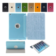 2015 New&Hot Smart Cover Case For iPad mini 1/2/ 3 Retina wake-up sleep Metal+PU for ipad mini case 2pcs/lot