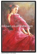 Beautiful Female Body Oil Painting-Lady Dancing Painting