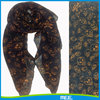 Wholesale women printed Skull polyester scarf