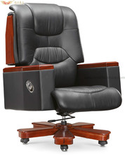 Solid Wood Executive Lumbar Support Ergonomic Chair, Wooden Armrest Executive Chair A-044