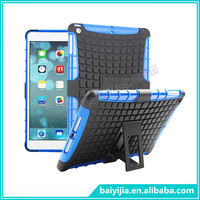 Tire Grain Style Case With Stand Bracket For ipad5 PC+TPU 2 in 1 Hybird Cover With Holder For ipad