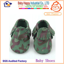 soft leather baby shoes crib moccasins MOQ 60 Pairs/mix 4 size