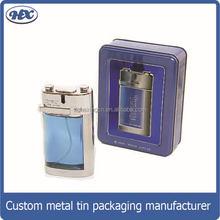 Metal box rectángulo perfume estaño