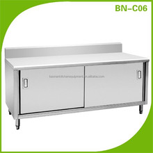 BN-C06 Stainless steel cabinet With Sliding Doors & Splashback