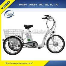 2015 adult electric Cargo Bike,3 wheel electric bicycle, Three wheel Handicapped Bike