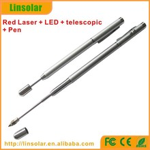 hot selling telescoping pointer pen, red laser beam 1mw 5mw telescopic laser pointer pen