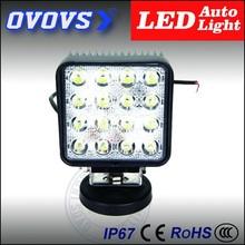 Square 12v 48w led work light Waterproof Ip67 lamp car led for atv, suv, truck, jeep