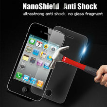 Accessories for phone nano anti-shock protective shield for iphone4 impact proof screen film