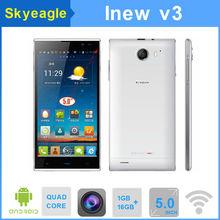 Original inew v3 mtk6582 quad core smartphone 5.0 pulgadas pantalla hd de la cámara 13.0mp android 4.2 hecho en china