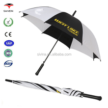 OEM wholesale customized promotion and advertising golf umbrella printed by silk screen printing golf umbrella