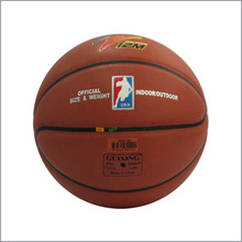 Official size 7 High Quality PU contex Leather with rubber bladder basketball