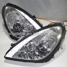 For Mercedes-Benz SLK R171 SLK200 SLK350 SLK500 LED Head Light 03-08 Chrome Housing DB