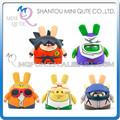Mini Qute Máscara oso 6,5 cm Muñecos de acción Anime goku Dragon Ball plástico regalo para niños modelos juguete dibujos