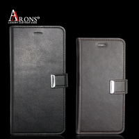 Premium wallet case with magnetic closure leather case for iphone 6
