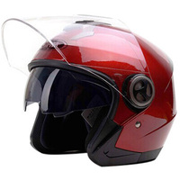 DOT Open Face 3/4 Vespa Helmet Biker Motorcycle Scooter