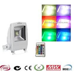with bridgelux chips ip65 waterproof meanwell driver 50w,60w,70w RGB led flood light