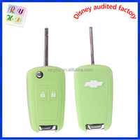 the latest luminous silicone car key cover car key case for Chevrolet