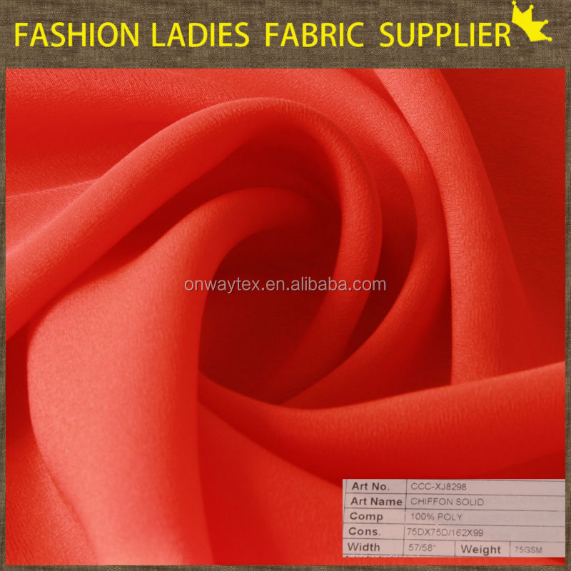 Crepe Fabric Uses Chiffon Fabric/faille Crepe