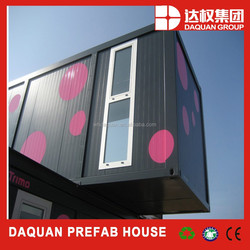 China flat packed container house with modern design with low cost