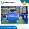 all welded ball valve with manual gear box DN400