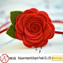 2015 promotional 7cm red Felt rose flowers for headband
