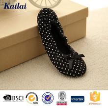 shoe manufacturer cheap lady dance shoe in black