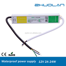 China Hot-sell IP67 Waterproof Model Waterproof Led Power Driver AC to DC 12V 2A 24W