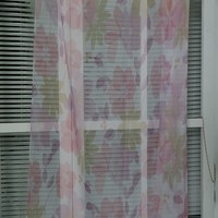Beautiful flower pattern Dubai hotel printed chiffon voile window curtain fabric