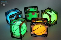 non toxic rubber toy bouncy balls for kids, PVC stress balls, eco-friendly glow balls in dark for sale