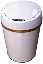 JN005TW Milk White baking finish Sensor Trash Bin Can with ABS baking finish Dust Cover