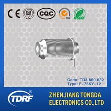 bulkhead mount F type rf coaxial connector manufacture