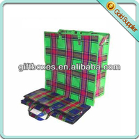 shopping bag with zipper