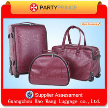 2015 Trolley With Newest Brand Fashion Travel Luggage For Lady Leather Luggage
