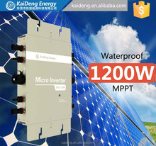 Factory directly 1200W 30V thin film solar panels with grid tie micro inverters for grid-tie solar power system